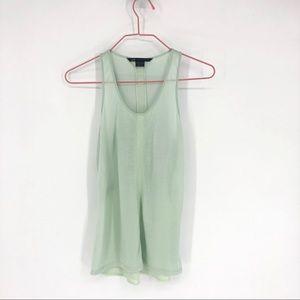 ⛱Armani Exchange mint green tank top semi sheer